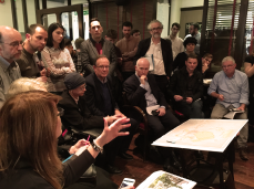 Discussions taking place about the work between Architects and residents of Harold's Cross
